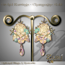 Orchid Earrings Champagne-Gold