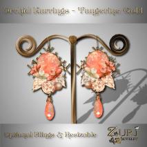 Orchid Earrings - Tangerine-Gold