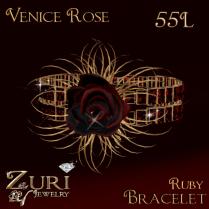 Zuri Rayna- Venice Rose Ruby Bracelet 55L