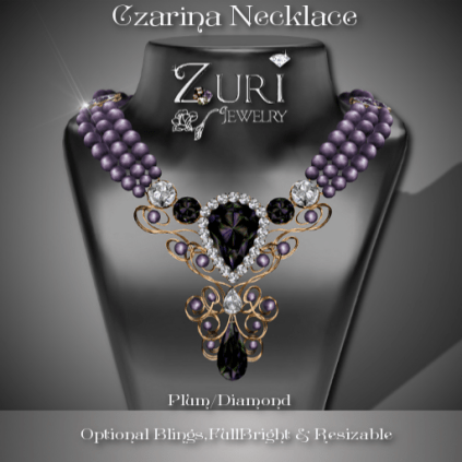Czarina Plum-Diamond Necklace