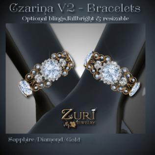 Czarina V2 Bracelets - Sapphire-Dia-Gold
