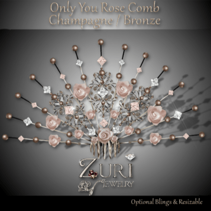 Only You Rose Comb - Champagne-Bronze
