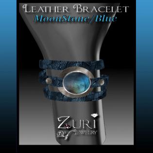 55L Bracelet Moonstone Blue - Zuri Jewelry