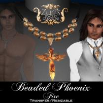 Beaded Phoenix Fire