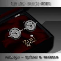 Cuff links - Aviator Sterling