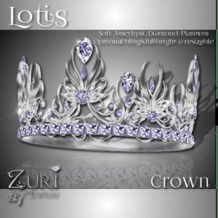 Lotis Crown - Soft Amethyst-Dia-Platinum