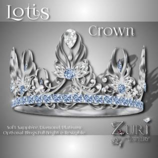 Lotis Crown - Soft Sapphire-Diamond-Platinum