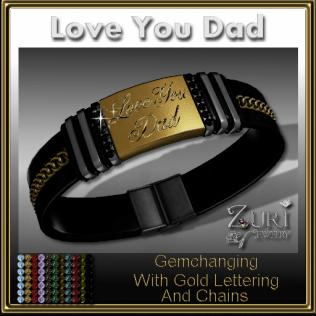 Love You Dad Gemchanging Bracelet- Gold