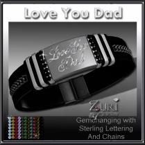 Love You Dad Gemchanging Bracelet- Sterling