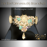 Zuri Rayna - Orchid Bracelet Champagne-Gold (R)PIC