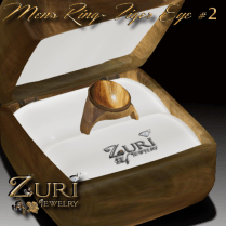 Zuri Rayna~Mens Ring Tiger Eye #2PIC