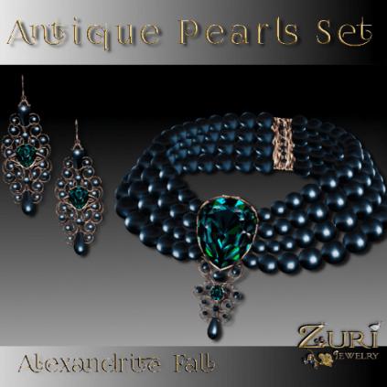 50% CD SALE! Zuri Rayna- Antique Pearls Set- Alexandrite Fall
