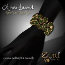 Aurora Bracelet - Green Fire Agate-Gold