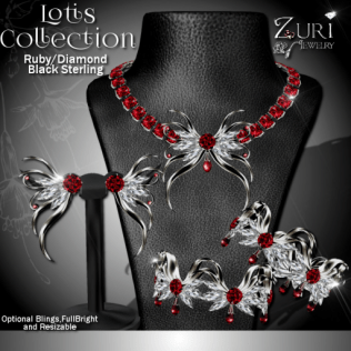 Lotis Collection - Ruby_Diamond-Blk Sterling