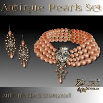 Zuri Rayna- Antique Pearls Set- Autumn Black DiamondPIC