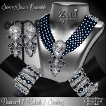 Zuri Rayna-Serene_Sashi Dangle -Diamond_Cobalt_SterlingPIC