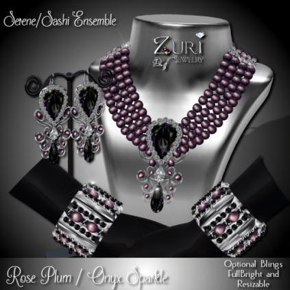 Zuri Rayna-Serene_Sashi Dangle -Rose Plum_Onyx SparklePIC