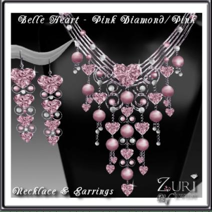 Zuri Rayna~Belle Hearts Set-Pink Diamond_Pink