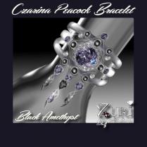 Zuri Rayna~Czarina Peacock Jewels-Purple Parrot-Aqua