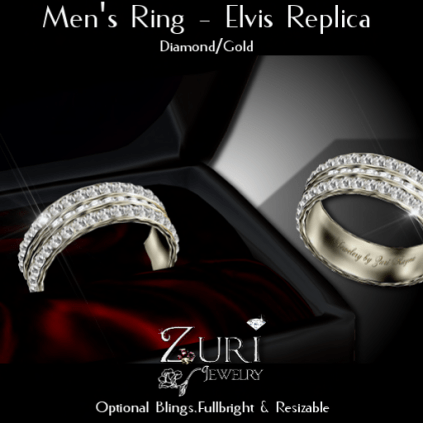 Men's Ring - Elvis Rep- Dia_Gold