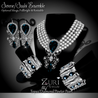 Serene_Sashi Ensemble Dangle - Topaz_Dia_Pewter