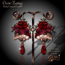 Zuri Rayna - Vintage Orchid Earrings - Ruby_CuppaPIC