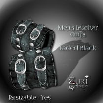 mens-leather-cuffs-faded-black