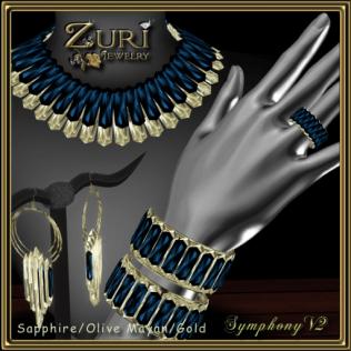 50% CD Sale - Symphony Crystal V2~Sapphire_Olive Mayan Gold