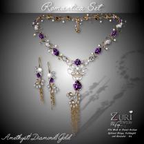 Romantica Set - Amethyst_Dia_Gold