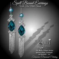 Spell Bound Earrings - TurquoiseDia_Sterling