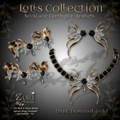 Lotis Collection - Onyx_Dia_Gold