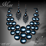 Mae Set - Necklace & Earrings - Cobalt_Copper