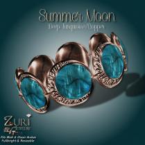 Summer Moon Bracelet - Deep Turquoise_Copper