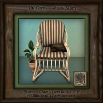 Tropics Blonde Patio Chair Right Bb