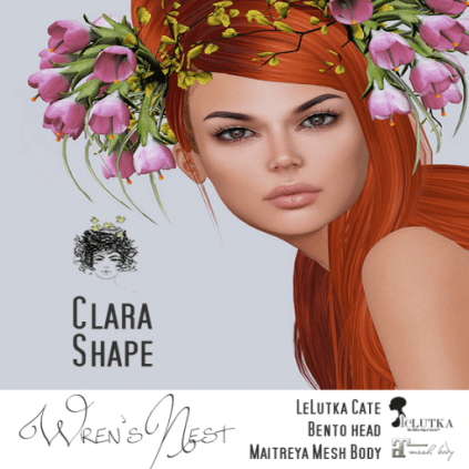 { wren's nest } Clara Shape for LeLutka Cate head