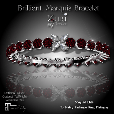 Brilliant Marquis Bracelet- Elite Scripted Radiance