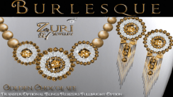 Burlesque Necklace & Earirngs~Golden Chocolate