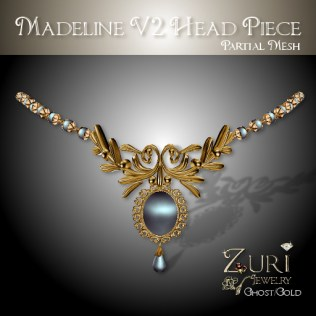 Madeline Head piece V2 - Ghost_Gold