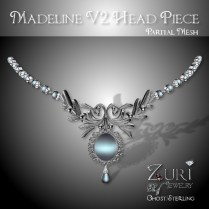 Madeline Head Piece V2 - Ghost_Sterling
