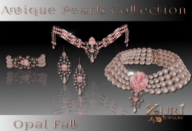 New Countdown Sale 50% Antique Pearls Full Collection-Opal Fall