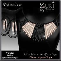 Phaedra Jewelry Set- Champagne_Onyx