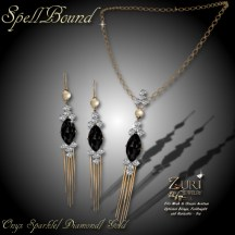 Spell Bound Set - Onyx Sparkle_Dia_Gold