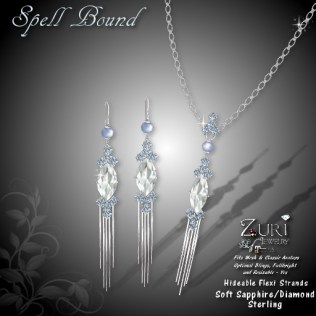 Spell Bound Set - Soft Sapphire_Dia_Sterling