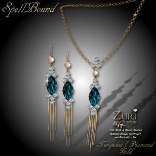 SpellBound Set - Turquoise_Dia_Gold