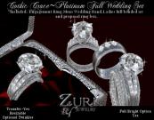 Gothic Grace Full Wedding Set Platinum