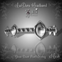 IsaDora Headband - Ghost Black-Sterling