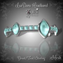 IsaDora Headband - Ghost Teal-Sterling