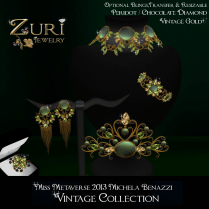 Vintage Metaverse Jewels - Peridot Chocolate