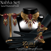 Zuri Rayna~ Nahla Set - Lava_Diamond_Gold