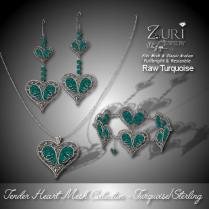Zuri Rayna-Tender Heart Mesh Collection - Raw Turquoise
